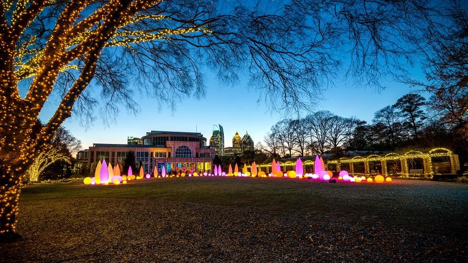 Show de Luces en los Jardines Botanicos de Atlanta